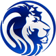 Extracted lion blue head sock logo