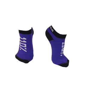 Customized Low-ankle socks with purple body and white text