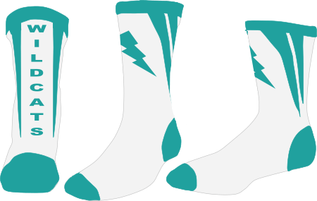 Example of custom sock design mockup