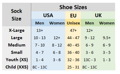 Sock Sizing Guide Sock Lengths Elite Sport Socks