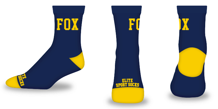 Custom Text - High-ankle - Blank Slate Style Socks
