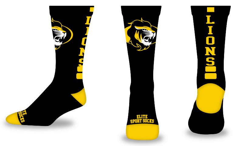 Custom Logo & Text - Crew - Elite Style Socks