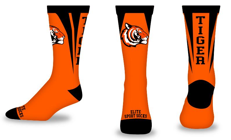Custom Logo & Text - Crew - Tearback Style Socks