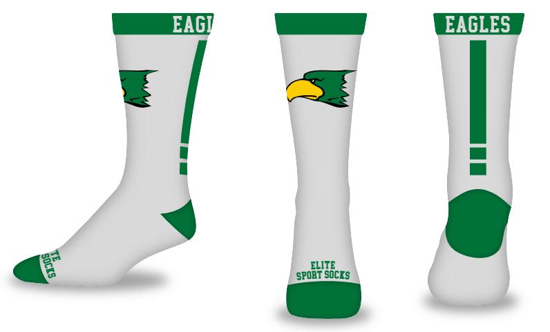 Custom Logo & Text - Crew - Topline Style Socks