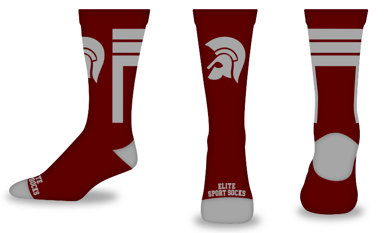 Custom Logo - Crew - Stripes Style Socks