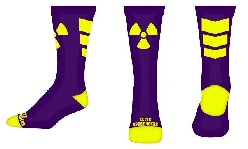 Custom Logo - Crew - Chevron Style Socks