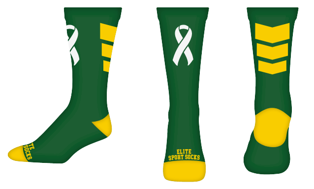 Awareness - Crew - Chevron Style Socks