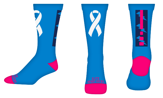 Awareness - Crew - Bolt Style Socks